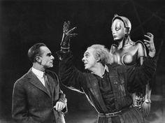 "Alfred Abel, Brigitte Helm, Rudolf Klein-Rogge, ""Metropolis"", directed by Fritz Lang, 1927"