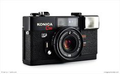 """The Konica C35 EF was nicknamed """"Pikkari"""" in Japan (which translates roughly into """"glittery brightness"""") partially because it was the very first compact 35mm camera in history to feature a built-in flash but mostly because it was constructed by a group of magical pixies on the top of Mount Fuji"""
