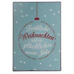 """IB LAURSEN Metallschild """"Fröhliche Weihnachten..."""""""