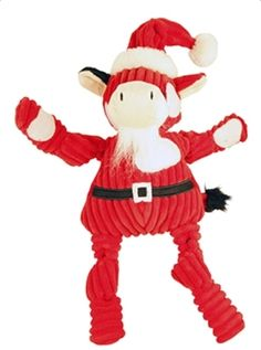 """Hugglehounds Santa Cow Every toy is made with our super soft, great textured wool and an accent of corduroy plush. Lined with out Tuft Technology for added strength.    Small 6"""" x 3.5"""" x 2.75""""    Large 11.5"""" x 6.5"""" x 4.5""""   Shop this product here: http://spreesy.com/tailwaggin/57   Shop all of our products at http://spreesy.com/tailwaggin      Pinterest selling powered by Spreesy.com"""