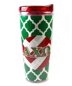 Take a look at this Alpha Chi Omega 18-Oz. Travel Mug by Mee Too on #zulily today!