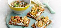 Ryvita topped with chicken tikka - Recipes - Slimming World Clean Eating, Healthy Eating, Healthy Food, Tikka Recipe, Lunch Ideas, Dinner Ideas, Cooking Recipes, Healthy Recipes, Chicken Tikka