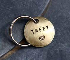 Customize Your Pet ID Tag in 3/4 Brass - pick the font & stamp! By theCopperPoppy, $12.00
