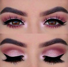 Perfect pink eye makeup !! ❤️❤️❤️ #maquillajeojos