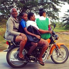Three generations on one motorcycle. #jamaica