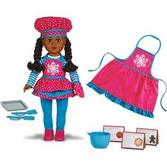 """My Life As Doll of 2014 Holiday Baker 18"""" Doll, Snowflake, African American"""