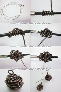 tuto-bola-alambre.  #Wire #Jewel#Tutorials