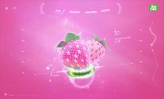 Tic Tac Strawberry by Leonid Ershov, via Behance