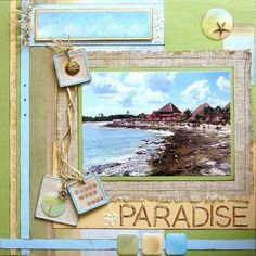 Cruise Vacation Scrapbook Ideas | cruise Scrapbook l/o idea