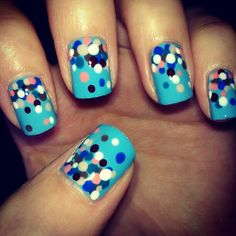 Get the dots with a nail dotter or make your own..... visit cutepolish, how to make your own dotting tool.