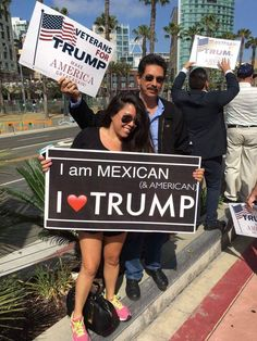 These people have a brain. Must have come here LEGALLY! Since they voted Trump, they MUST be angry, white men! Trump Is My President, Vote Trump, Pro Trump, Trump Meme, I Love America, God Bless America, Meryl Streep, Caricatures, Donald Trump