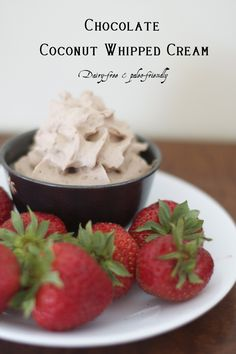Chocolate Coconut Whipped Cream (Dairy-free, paleo-friendly)