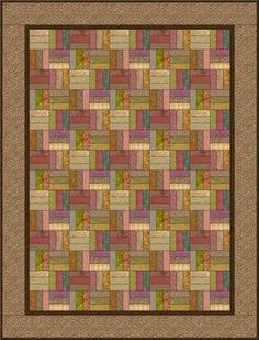 Scrappy Roman square quilt pattern. I made this one with my scraps, it turned out so pretty!