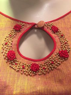Blouse designs Brown Things brown color around eyes Chudi Neck Designs, Neck Designs For Suits, Fancy Blouse Designs, Bridal Blouse Designs, Blouse Neck Designs, Neckline Designs, Churidar Neck Designs, Kurta Neck Design, Salwar Designs