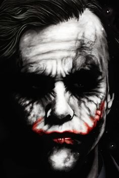 """The Joker""\The Dark Knight,\ Heath Ledger, Heath Joker, Le Joker Batman, Harley Quinn Et Le Joker, Gotham Batman, Batman Robin, Art Du Joker, Comic Books Art, Comic Art, Art Zombie"