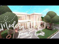 Bloxburg Modern Roleplay House House Build Youtube In 2021 House Decorating Ideas Apartments Two Story House Design Building A House