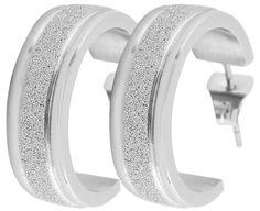 NEU TITAN Ohrhänger CREOLEN Ohrstecker Ohrringe *** diamantiert 20 mm