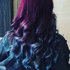 Hair today at Pout! 🔮💋💁 #purpleblueombre #hairdresser #hairfashion #hairstyle #hairgoals #hairofinstagram #amazing #hairdye #haircolor #magic #beautiful #inlove #hairoftheday #hairsalon #hairlife #colors #galaxy #goals #northernireland #lisburn #cosmichair