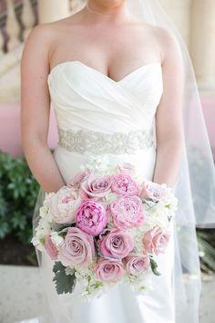 Photography: Captured By Jen - www.capturedbyjen.com  Read More: http://www.stylemepretty.com/little-black-book-blog/2014/08/07/romantic-pink-boca-raton-wedding/