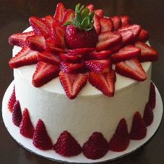 Pretty and easy cake decorating. Looks yummy! Gonna try this one soon.