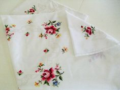 Embroidered Tablecover by TheSweetBasil on Etsy