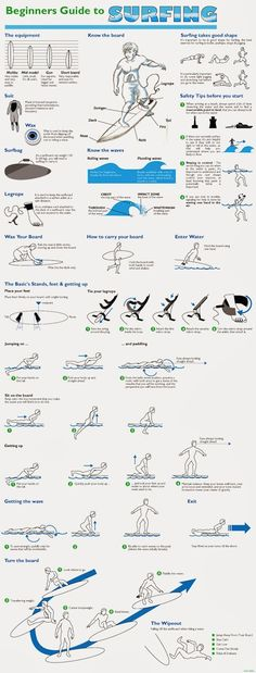 Surf Infographics - Beginners Guide to Surfing #surfing #infographic