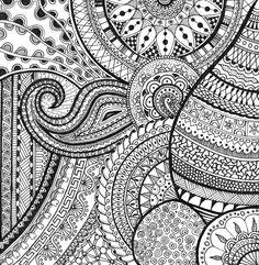Zentangle - Doodle 01 by my sister Anja van den Heuvel