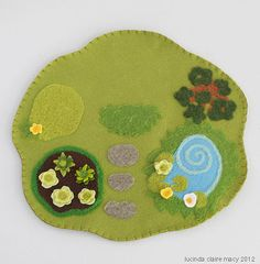 Cottage Play Mat by willodel on Etsy