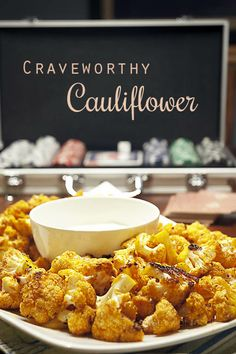 Crave-worthy Cauliflower Snack - Two heads are better than one for Superbowl or anytime ----> in this dual recipe for Red Hot and Thai Chili Roasted Cauliflower. Make it on game day for a healthier choice - via Jordan's Family of Foodies