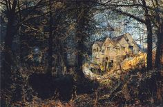 The Athenaeum - Autumn Glory, The Old Mill (John Atkinson Grimshaw - )