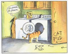 My all time favorite from Gary Larson. I have this Far Side framed and hung over my kitty feeding station.