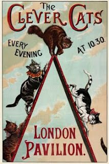 The Clever Cats (1888) Vintage circus poster