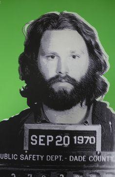 Jim Morrison Mugshot.