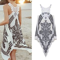 cute outfits for summer Summer Dress Girls Embroidery Lace Patchwork Asymmetrical Crochet Bohemian Dress Women Dress 6061 = 5737784001 Summer Work Outfits, Casual Summer Dresses, Casual Summer Outfits, Cute Outfits, Dress Casual, Summer Sundresses, Dress Summer, Trend Fashion, Boho Fashion