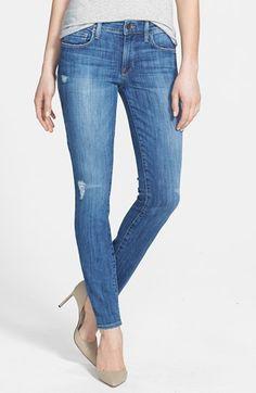 Genetic 'Stem' Mid Rise Skinny Jeans (Slash)