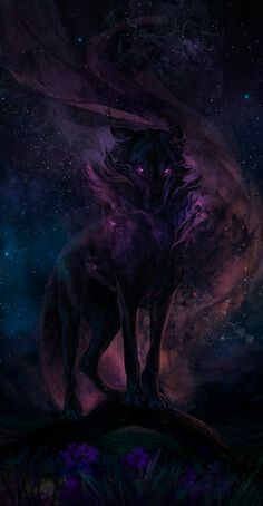 The darkness within Wolf, Dark, Painting, Wolves, Gray Wolf