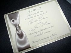 Save the date cards unique metallic shimmer