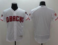 d52da617b 2016 MLB Arizona Diamondbacks Blank White Elite Fashion Jerseys
