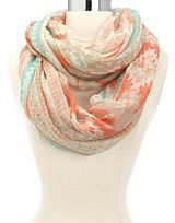 Feather Print Infinity Scarf: Charlotte Russe