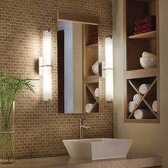 The Tech Lighting Metro Wall Vanity Light Provides An Energy Efficient  Ambient Light Paired With A Chic Modern Style.