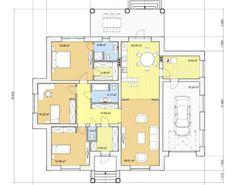Проект одноэтажного дома, 189,29м2 | Проекты домов и коттеджей Story House, Floor Plans, Exterior, House Design, Home Decor, Houses, Decoration Home, Room Decor, Outdoor Rooms