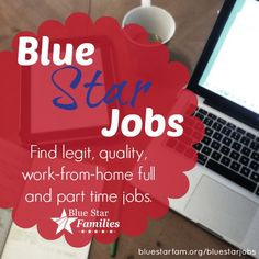 #milspouse employment, Blue Star Jobs. work from home, virtual employment.  ** Repinning some of our most popular Pins.  Be sure to follow all of our boards at http://pinterest.com/MilitaryAvenue **