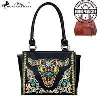 Montana West Embroidered Collection Concealed Handgun Trapezoid Tote