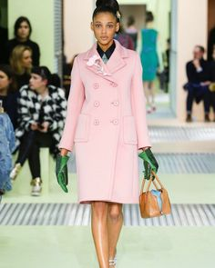 This pink coat from Prada served as the main source of inspiration for our Ellsworth Coat pattern. Want to learn to sew up your own version? Next week's class at @workroomsocial is filling up so don't wait! Sign up today and learn tons of coat and jacket sewing skills from Christine! #ellsworthcoat #christinehaynespatterns