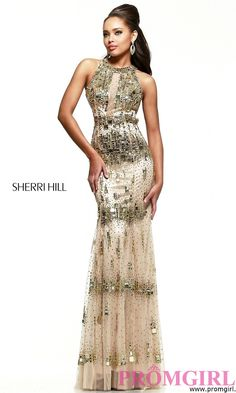 Prom Dresses, Celebrity Dresses, Sexy Evening Gowns - PromGirl: Floor Length High Neck Dress by Sherri Hill