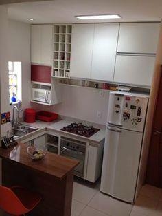 Kitchen Room Design, Home Room Design, Home Decor Kitchen, Kitchen Furniture, Small House Interior Design, Interior Design Kitchen, Small Apartment Kitchen, Cuisines Design, Design Of Kitchen