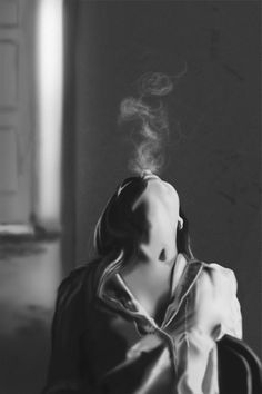 Digital painting, value study. Self Portrait Photography, Photography Poses Women, Dark Photography, Boudoir Photography, Creative Photography, Amazing Photography, Smoke Pictures, Photoshop Images, Smoke Art