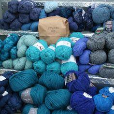 Jimmy Beans Wool Bulky Mystery Yarn Grab Bags Yarn - Blues
