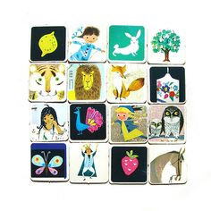vintage memory card game (wooden donkey, flickr). I had these when I was young! :)