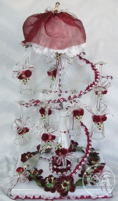 Coral rose brindis set miami coral quinceanera for Wholesale quinceanera craft supplies